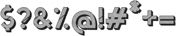 Jerome striped 3d otf (400) Font OTHER CHARS