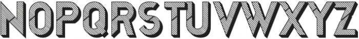 Jerome striped 3d otf (400) Font UPPERCASE
