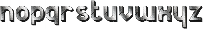 Jerome striped 3d otf (400) Font LOWERCASE
