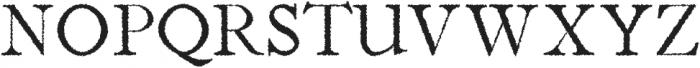 Jerricca Distorted otf (400) Font UPPERCASE