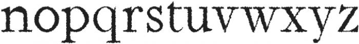 Jerricca Distorted otf (400) Font LOWERCASE