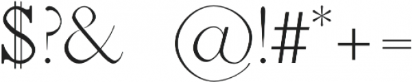 Jerricca Light otf (300) Font OTHER CHARS