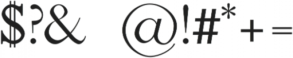 Jerricca otf (400) Font OTHER CHARS