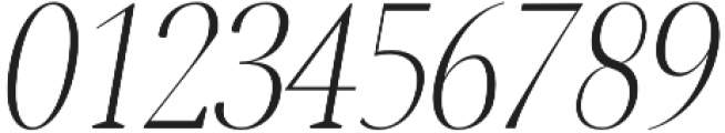 Jerrick Light Italic otf (300) Font OTHER CHARS
