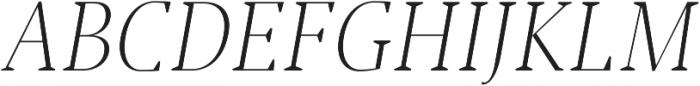 Jerrick Light Italic otf (300) Font UPPERCASE