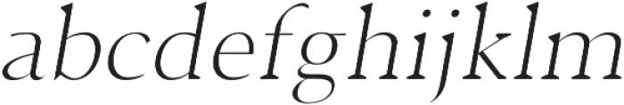 Jerrick Light Italic otf (300) Font LOWERCASE