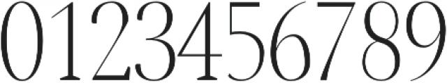 Jerrick Light otf (300) Font OTHER CHARS