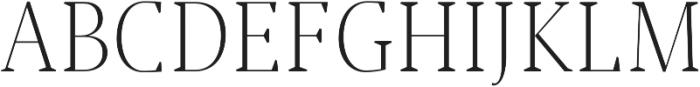 Jerrick Light otf (300) Font UPPERCASE