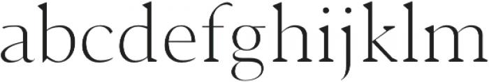 Jerrick Light otf (300) Font LOWERCASE