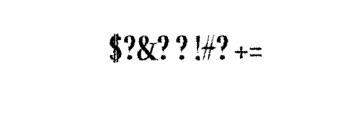 Jerrick-BoldDistorted.otf Font OTHER CHARS