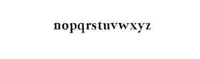 Jerrick-BoldDistorted.otf Font LOWERCASE