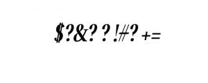 Jerrick-BoldItalic.otf Font OTHER CHARS