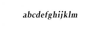 Jerrick-BoldItalic.otf Font LOWERCASE