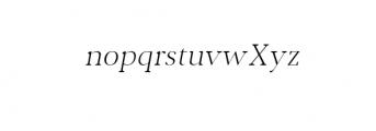 Jerrick-LightItalic.otf Font LOWERCASE