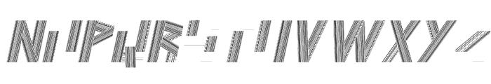 JELANG Italic Font UPPERCASE