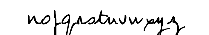 Jean-Claude's hand Font LOWERCASE
