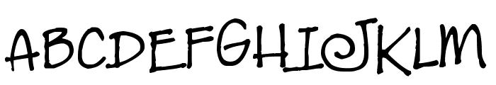 JeansFont Font UPPERCASE