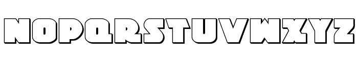 Jedi Special Forces 3D Regular Font UPPERCASE