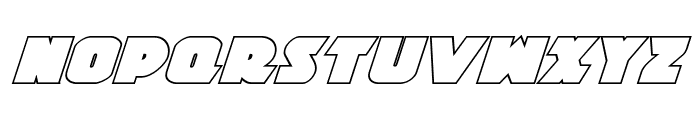 Jedi Special Forces Outline Italic Font LOWERCASE