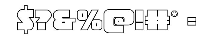 Jedi Special Forces Outline Regular Font OTHER CHARS