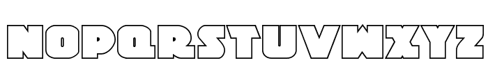Jedi Special Forces Outline Regular Font UPPERCASE