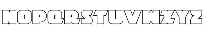 Jedi Special Forces Outline Regular Font LOWERCASE