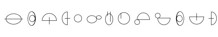 Jedi Symbol Font UPPERCASE