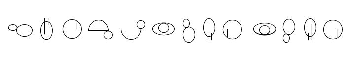 Jedi Symbol Font LOWERCASE