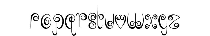 Jelly Swirls Font LOWERCASE