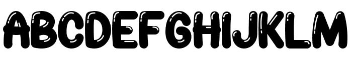 JellyBelly Font Regular Font UPPERCASE