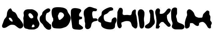 Jellybean Font UPPERCASE