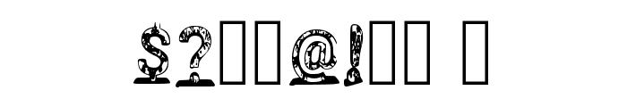 Jellyfish 3d Regular Font OTHER CHARS