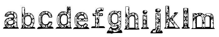 Jellyfish 3d Regular Font LOWERCASE