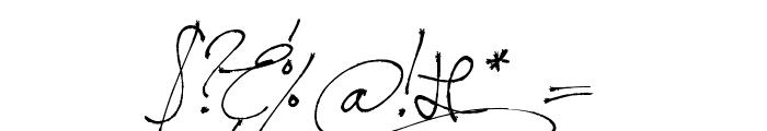 Jellyka BeesAntique Handwriting Font OTHER CHARS