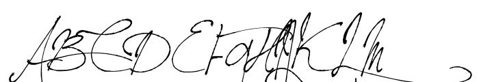 Jellyka BeesAntique Handwriting Font UPPERCASE