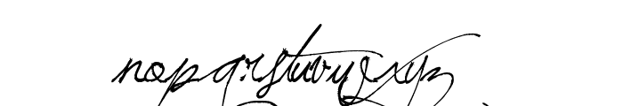 Jellyka BeesAntique Handwriting Font LOWERCASE