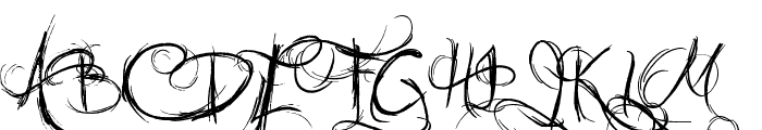 Jellyka Castle's Queen Font UPPERCASE