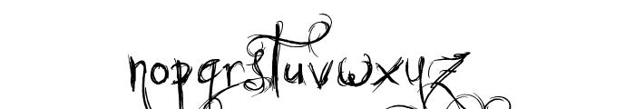 Jellyka Castle's Queen Font LOWERCASE