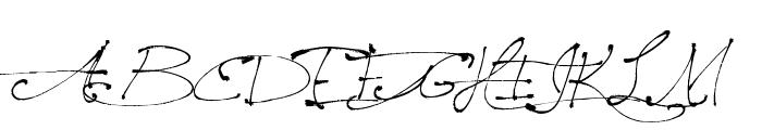 Jellyka, Saint-Andrew's Queen Font UPPERCASE