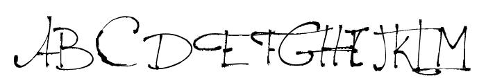 Jellyka - le Grand Saut Textual Font UPPERCASE