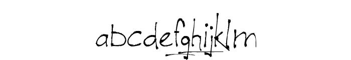 Jellyka - le Grand Saut Textual Font LOWERCASE