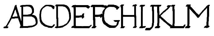 Jempol Font UPPERCASE