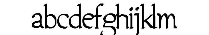 Jempol Font LOWERCASE