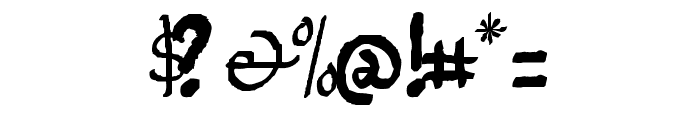 Jempolfreak Font OTHER CHARS