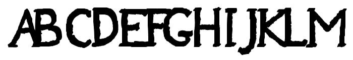 Jempolfreak Font UPPERCASE