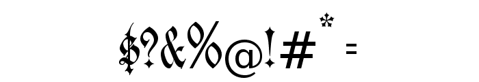 JenaGotisch Font OTHER CHARS