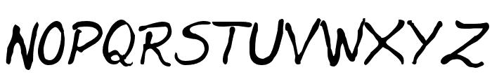 Jenelson-Regular Font UPPERCASE