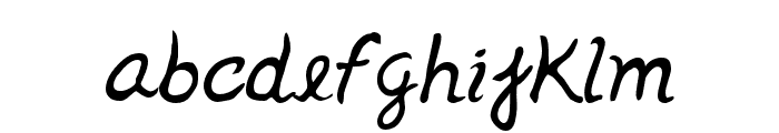 Jenelson-Regular Font LOWERCASE