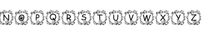 Jenna's Kitties Font UPPERCASE