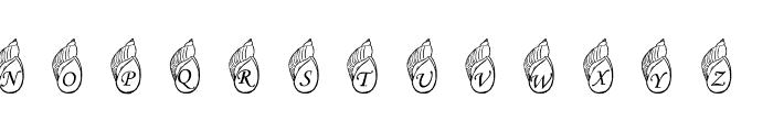 Jenna's Shells Font UPPERCASE